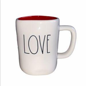 Rae Dunn LOVE valentine mug LL NEW red inside